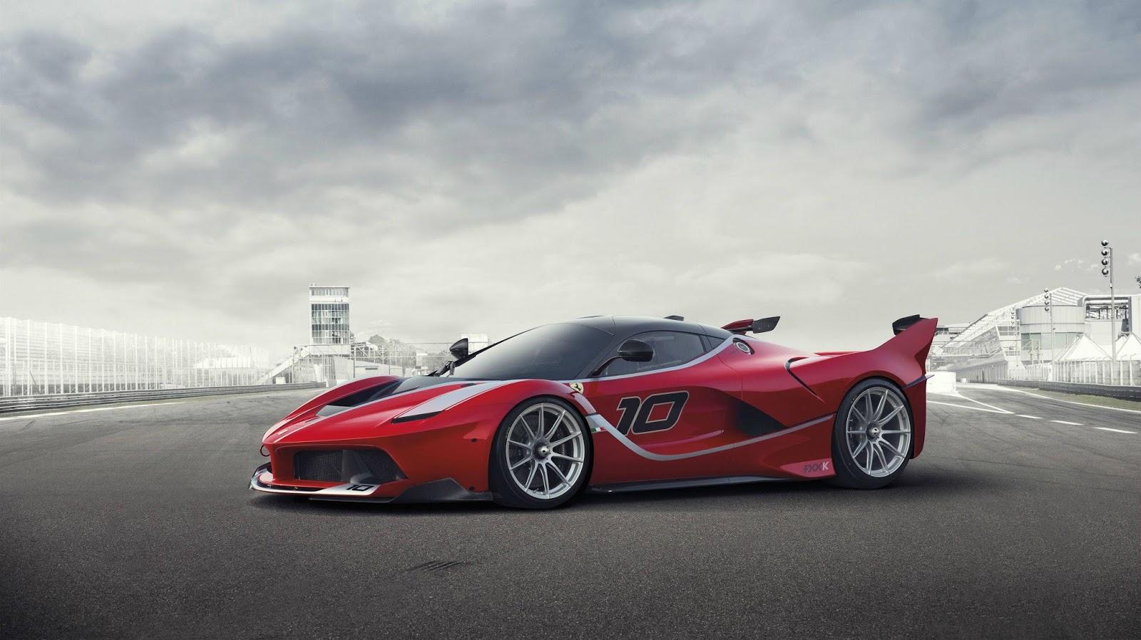 4 Ferrari Fxx ουρλιάζουν στην πίστα Ferrari, Ferrari FXX K, videos