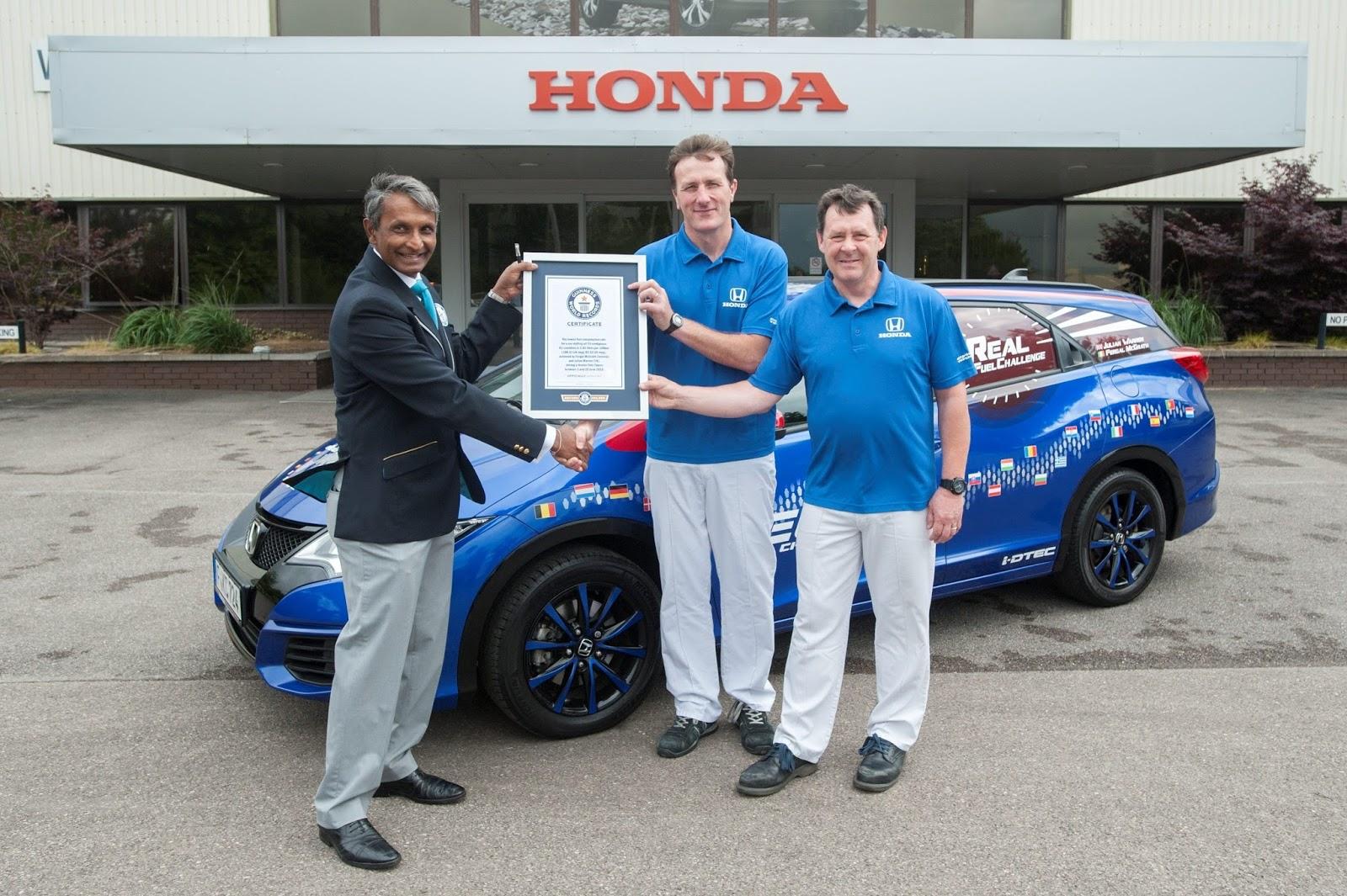 honda2BGuiness World Record H Honda σπάει ρεκόρ Γκίνες στην κατανάλωση: 2,8 l/100 km Honda, Honda Civic, iVtec, κατανάλωση, Ρεκόρ GUINNESS