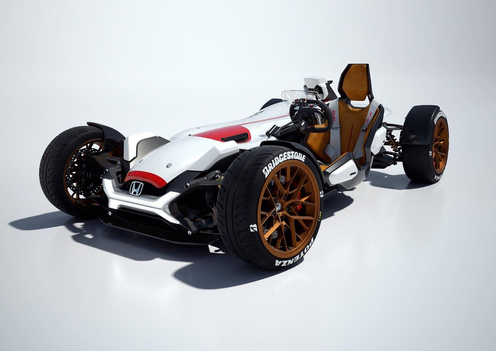 60394 HONDA PROJECT 2 4 POWERED BY RC213V TO DEBUT AT FRANKFURT A COMBINATION OF Αυτοκίνητο ή μοτοσικλέτα; Και τα δυο σε ένα μας λέει η Honda Frankfurt Motor Show, Global Design Project, Honda, Honda design, Honda Project 2&4
