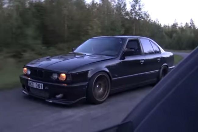 veyron vs bmw m5 Μια αφηνιασμένη Bmw M5 E34 τα ρίχνει σε Veyron! BMW, BMW M5, Bugatti, Bugatti Veyron, videos
