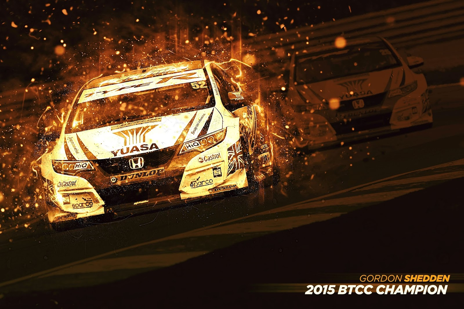 BTCC 2015 Champions Banner v4 min Η συλλογή τίτλων μόλις ξεκίνησε για το νέο Civic Type R BTCC, Hatcback, Honda, Honda Civic, Honda Civic Type R, Rally, videos