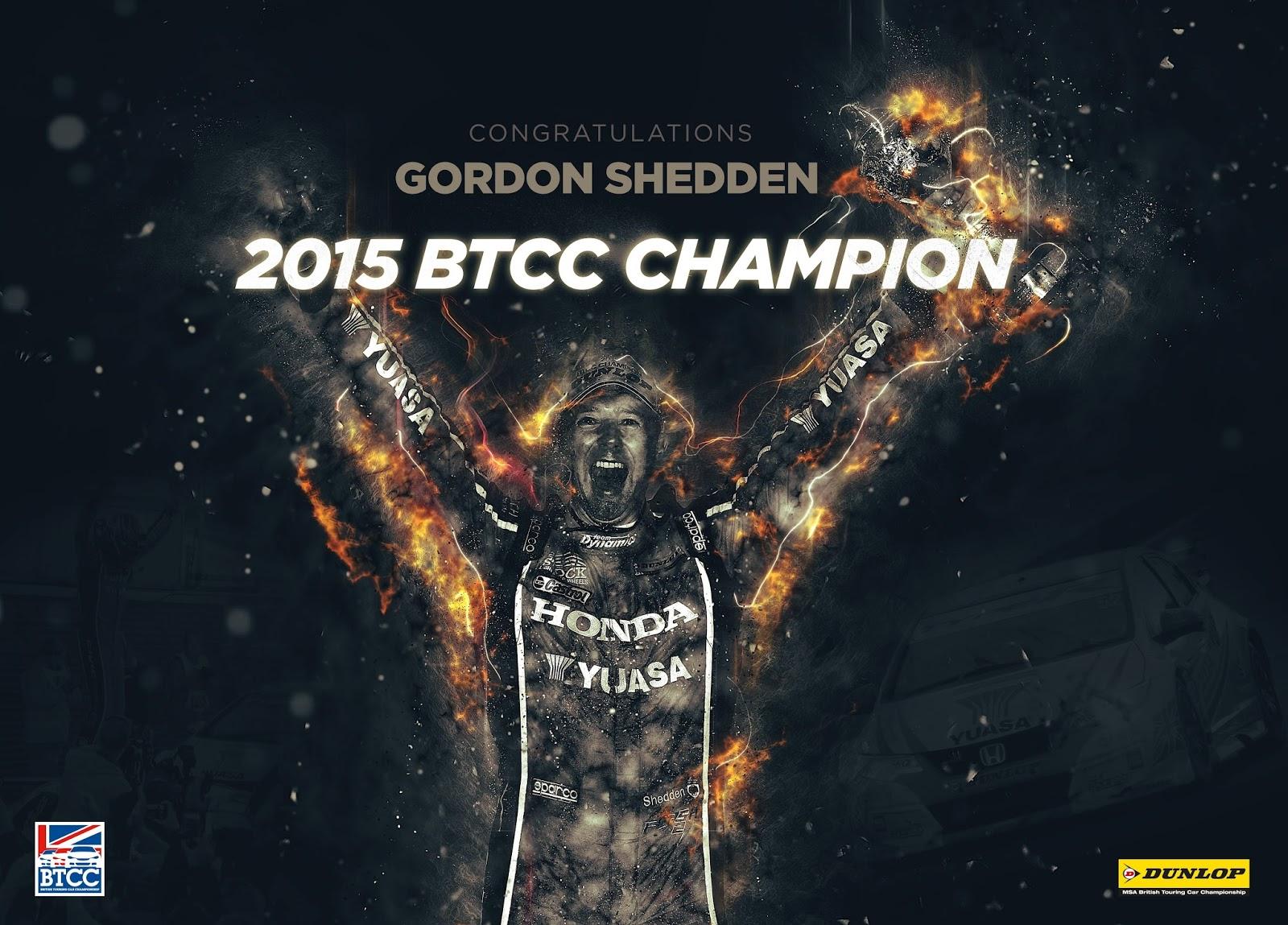BTCC 2015 Champions Gordon Shedden Η συλλογή τίτλων μόλις ξεκίνησε για το νέο Civic Type R BTCC, Hatcback, Honda, Honda Civic, Honda Civic Type R, Rally, videos