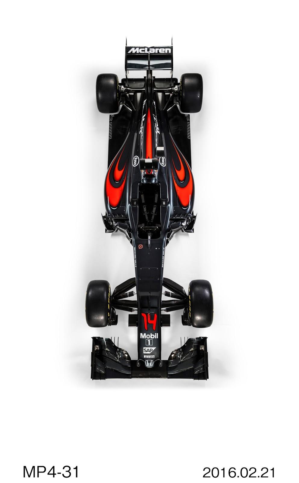 c160221 003H Η McLaren-Honda αποκάλυψε το νέο μονοθέσιο, την MP4-31 Formula 1, McLaren-Honda, McLaren-Honda MP4-31