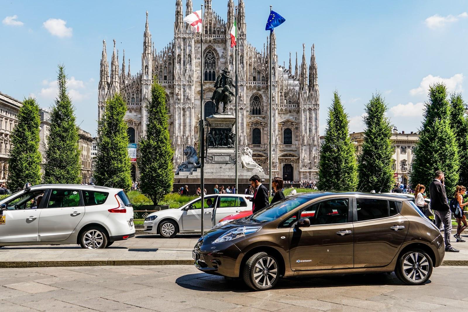 145612 5 8 Τα ηλεκτρικά οχήματα της Nissan, στον τελικό του UEFA Champions League στο Μιλάνο Nissan, Nissan LEAF, UEFA Champions League