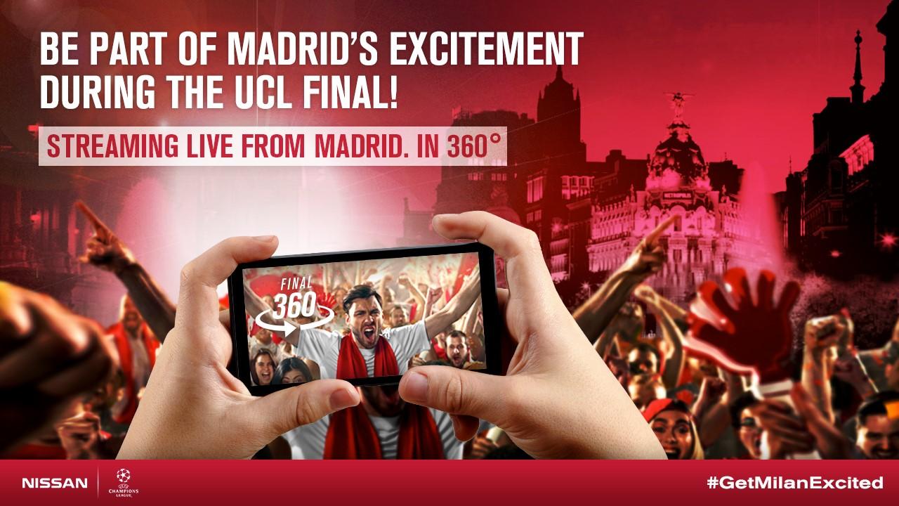 145991 1 5 Δες με live video 360°, τους φιλάθλους στους δρόμους της Μαδρίτης στον Τελικό του UEFA Champions League ! Nissan, UEFA Champions League