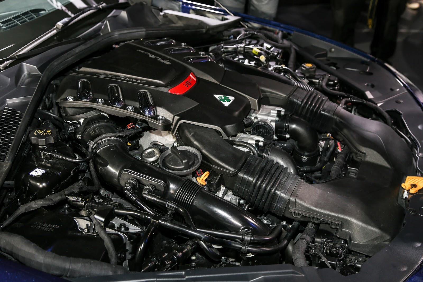 Alfa Romeo Giulia Quadrifoglio engine 1
