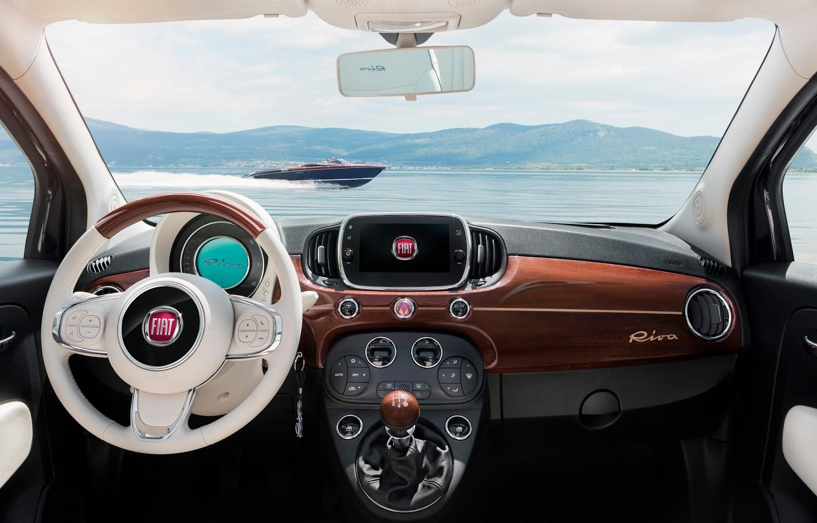 160627 Fiat 500 Riva 14 Fiat 500 Riva : Το κομψό έγινε και πολυτελές Fiat, Fiat 500, Fiat 500 Riva, Fiat 500C, Riva, supermini, videos