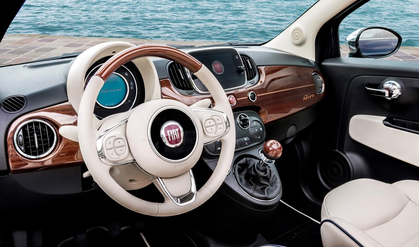 160627 Fiat 500 Riva 17 Fiat 500 Riva : Το κομψό έγινε και πολυτελές Fiat, Fiat 500, Fiat 500 Riva, Fiat 500C, Riva, supermini, videos