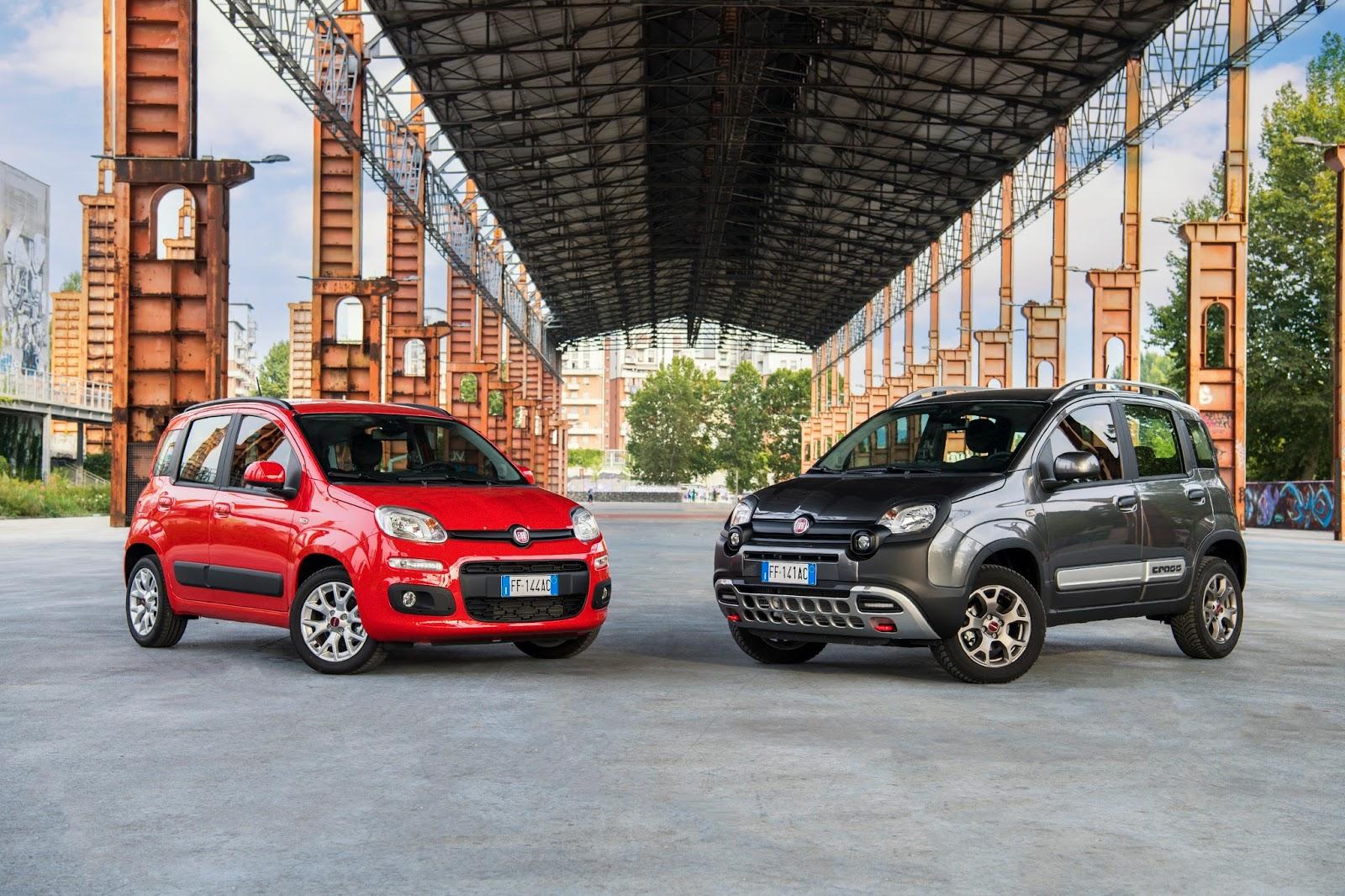 160915 Fiat Panda HP Η Fiat με όλα τα μέλη της οικογένειας της, στην έκθεση αυτοκινήτου 2016 στο Παρίσι autoshow, Fiat, fiat 124 spider, Fiat 500, Fiat 500 Riva, Fiat 500S, Fiat 500X