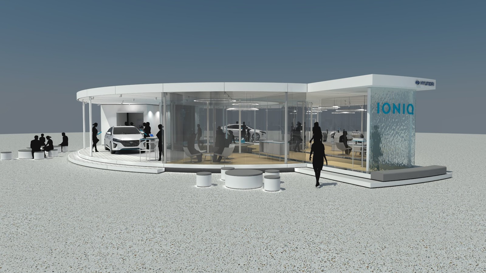 generation ioniq lounge H Hyundai Motor εγκαινιάζει το Generation IONIQ Tour στη Γερμανία car, Electric cars, Hyundai, Hyundai IONIQ, Hyundai Ελλάς