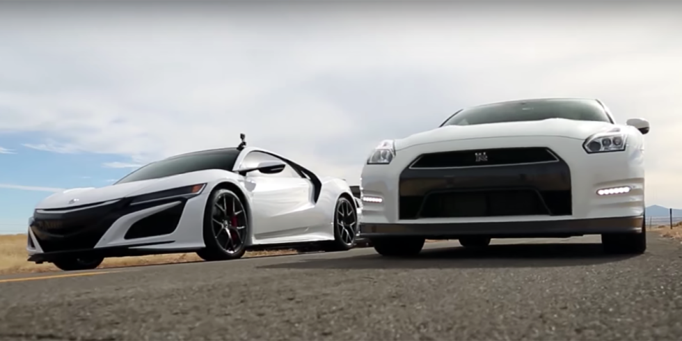Ποιο είναι γρηγορότερο, το NSX ή το GT-R;