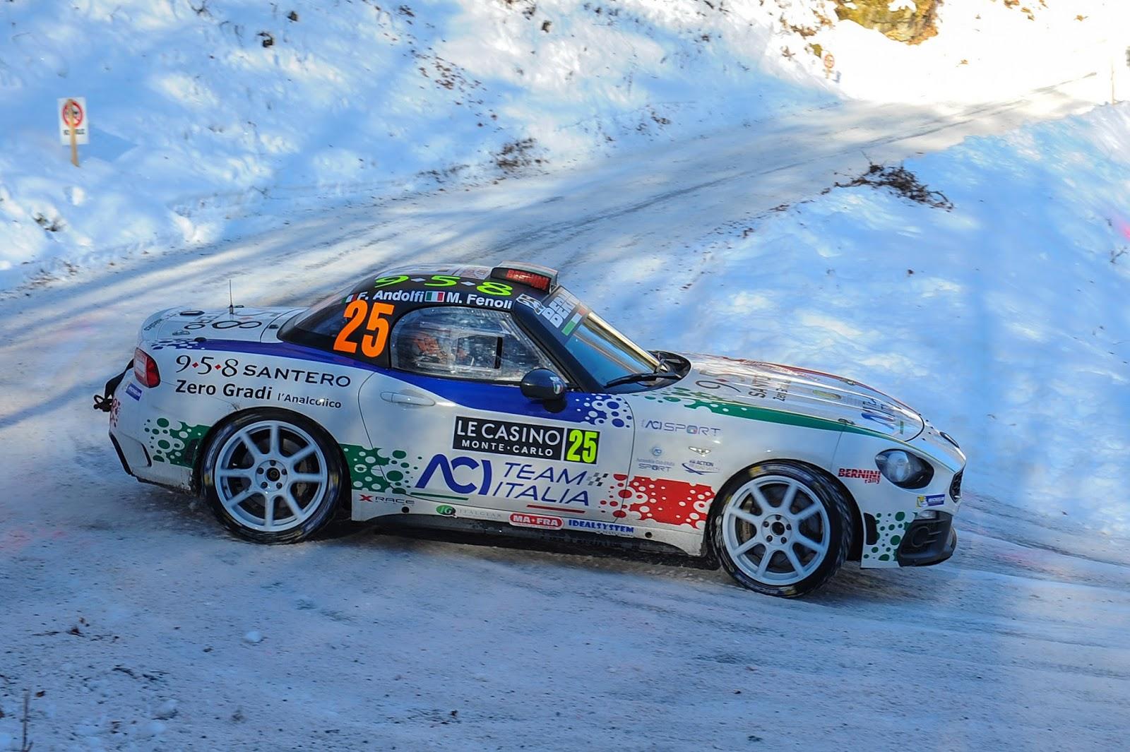 170123 Abarth Andolfi Θετική παρουσία για το Abarth 124 rally στην αγωνιστική του πρεμιέρα στο 85ο Rally του Monte Carlo Abarth, Abarth 124, Abarth 124 Rally, Fiat, Rally, Rallye Automobile Monte Carlo