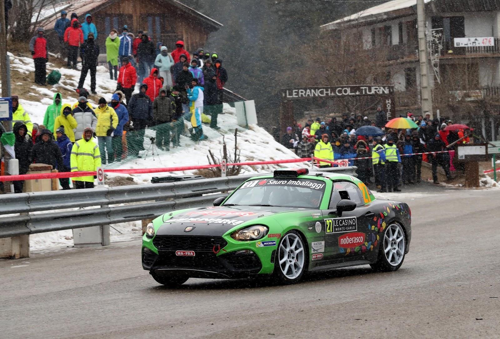 170123 Abarth Noberasco Θετική παρουσία για το Abarth 124 rally στην αγωνιστική του πρεμιέρα στο 85ο Rally του Monte Carlo Abarth, Abarth 124, Abarth 124 Rally, Fiat, Rally, Rallye Automobile Monte Carlo