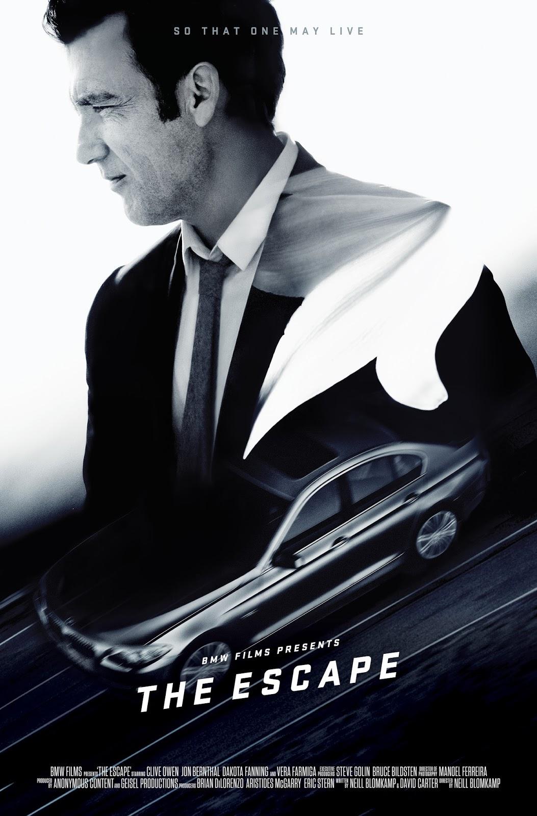 escape poster series1 Δες την ταινία The Escape, με πρωταγωνιστή την νέα BMW Σειρά 5 BMW, BMW 5, Fun, movie, movie cars, videos, Λανσάρισμα