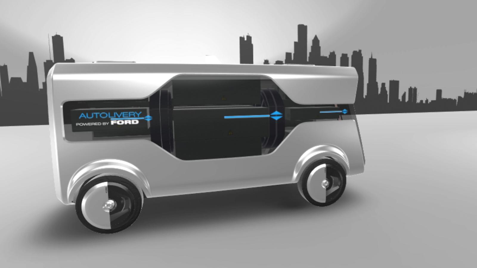 FORD 2017 MWC Autolivery 08 Ford : H πόλη του μέλλοντος θα έχει αυτόνομα van και drone... για delivery