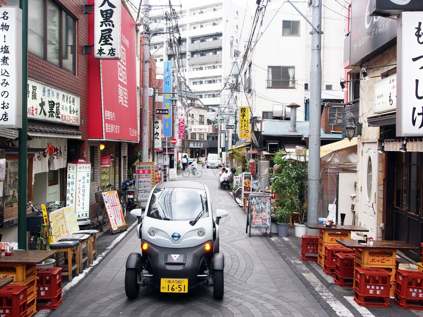 Car sharing Nissan 1 Κοινόχρηστα αυτοκίνητα από την Nissan, στην Ιαπωνία car, car sharing, Electric cars, Nissan, ultra compact, YOKOHAMA