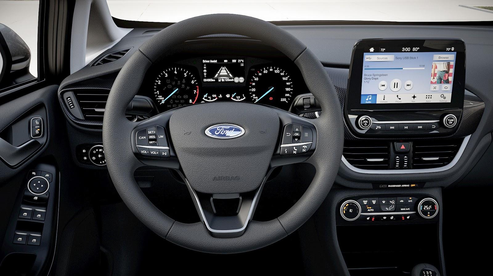 FORD FIESTA2017 InteriorDesignTour Cockpit Day Τα πρώτα Ford Fiesta έρχονται στην Ελλάδα, με τιμή από 12.990€ Bestseller, Ford, Ford Fiesta, supermini, Λανσάρισμα