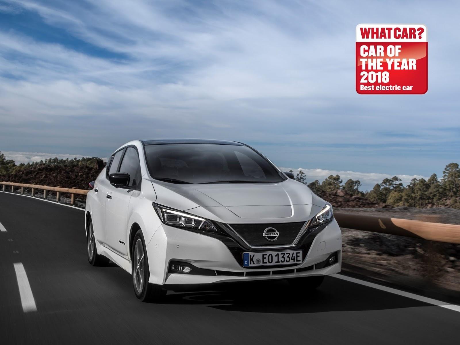426217556 Nissan LEAF named Best Electric Car at 2018 What Car Awards2B252812529 Το Nissan LEAF παίρνει τον τίτλο του καλύτερου ηλεκτρικού Nissan, Nissan LEAF, βραβείο