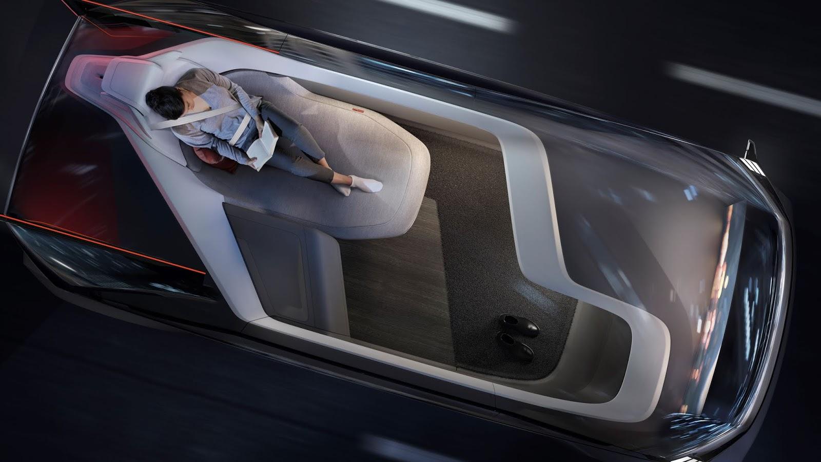 237046 Volvo 360c Interior Sleeping Το όραμα της Volvo χωρίς... τιμόνι Electric cars, Volvo, αυτόνομα, Αυτόνομη οδήγηση, Τεχνολογία