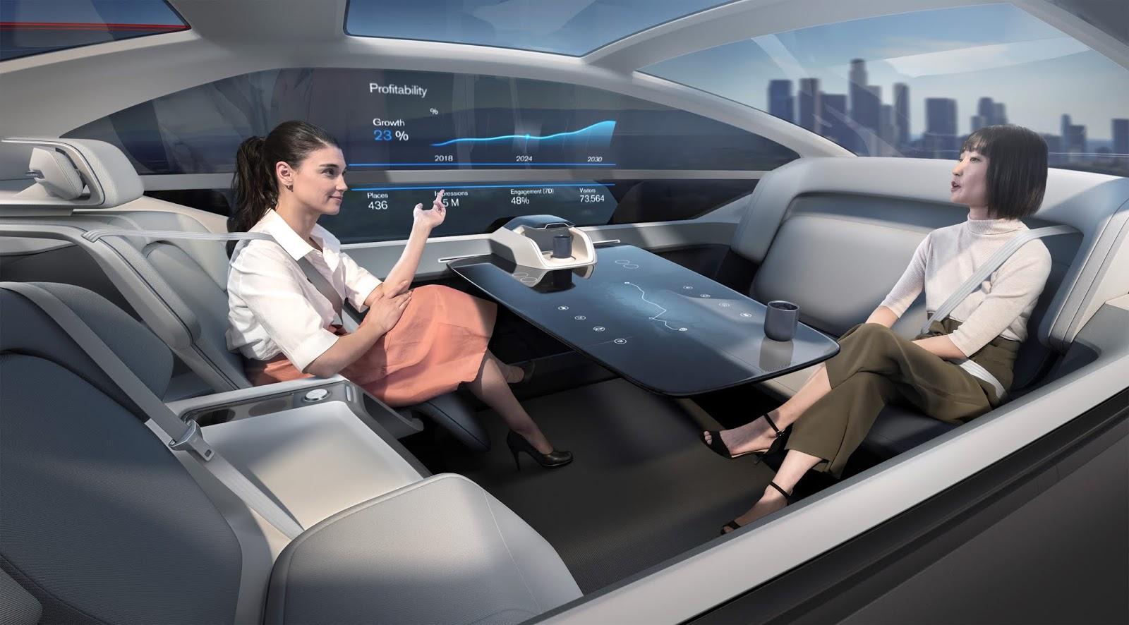 237052 Volvo 360c Interior Office 1 Το όραμα της Volvo χωρίς... τιμόνι Electric cars, Volvo, αυτόνομα, Αυτόνομη οδήγηση, Τεχνολογία