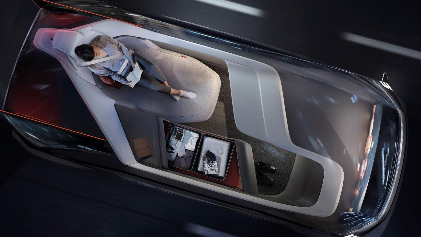 237054 Volvo 360c Interior Sleeping Το όραμα της Volvo χωρίς... τιμόνι Electric cars, Volvo, αυτόνομα, Αυτόνομη οδήγηση, Τεχνολογία