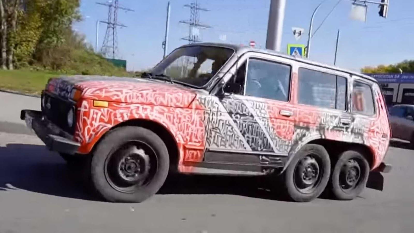 LADA2 Αυτο το Lada Niva είναι το... 6Χ6 του φτωχού 6X6, Fun, Lada, Offroad, SUV, video, videos, zblog