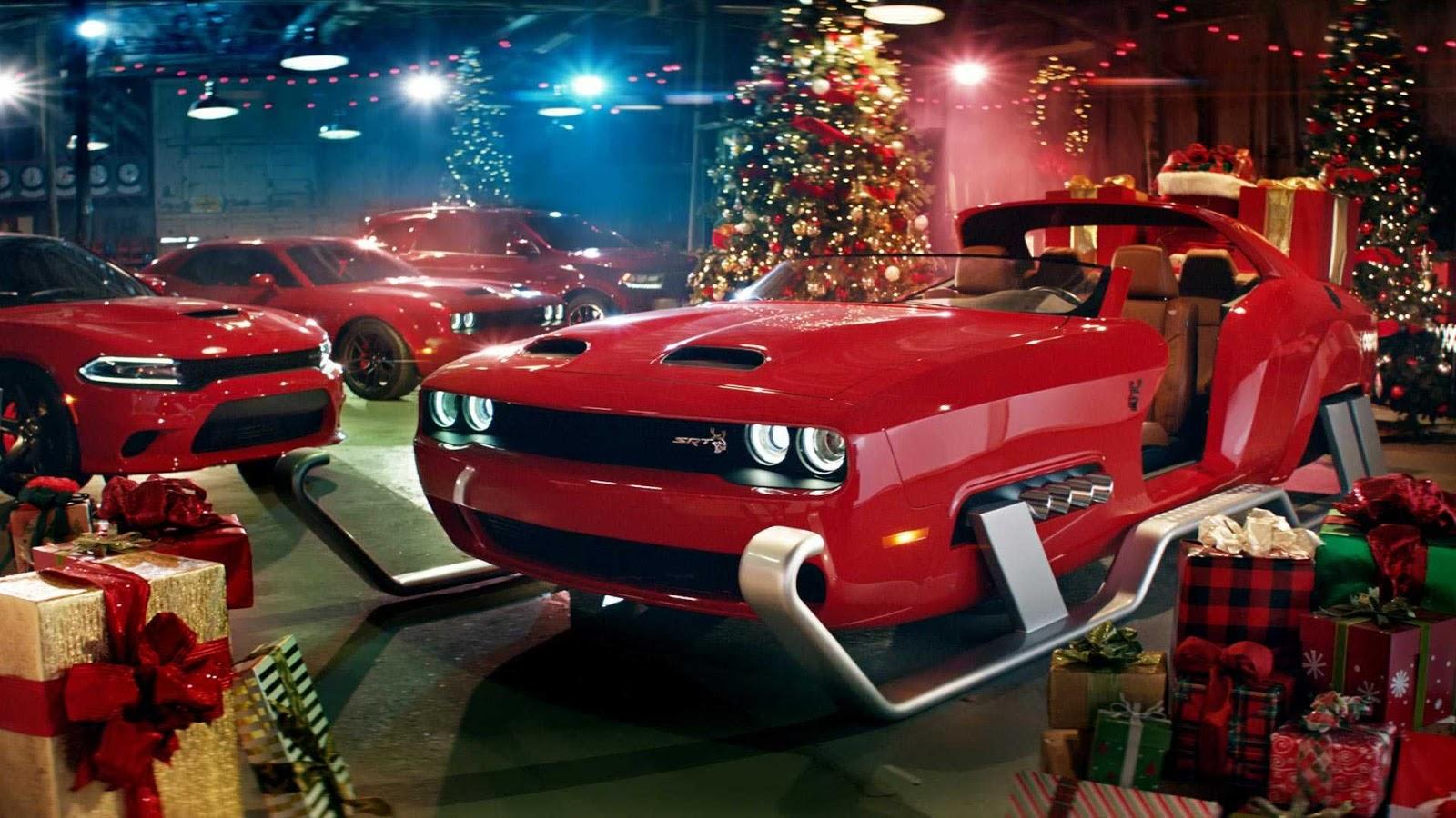 dodge challenger santa sleigh Η Dodge αντικαθιστά τους 8 ταράνδους με 797 άλογα! Dodge, Dodge Challenger Hellcat, video, videos, zblog