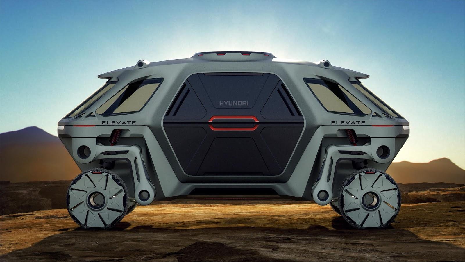 hyundai elevate concept252812529 H Hyundai έβγαλε όχημα με ρομποτικά πόδια! Electric cars, Hyundai, zblog, Τεχνολογία