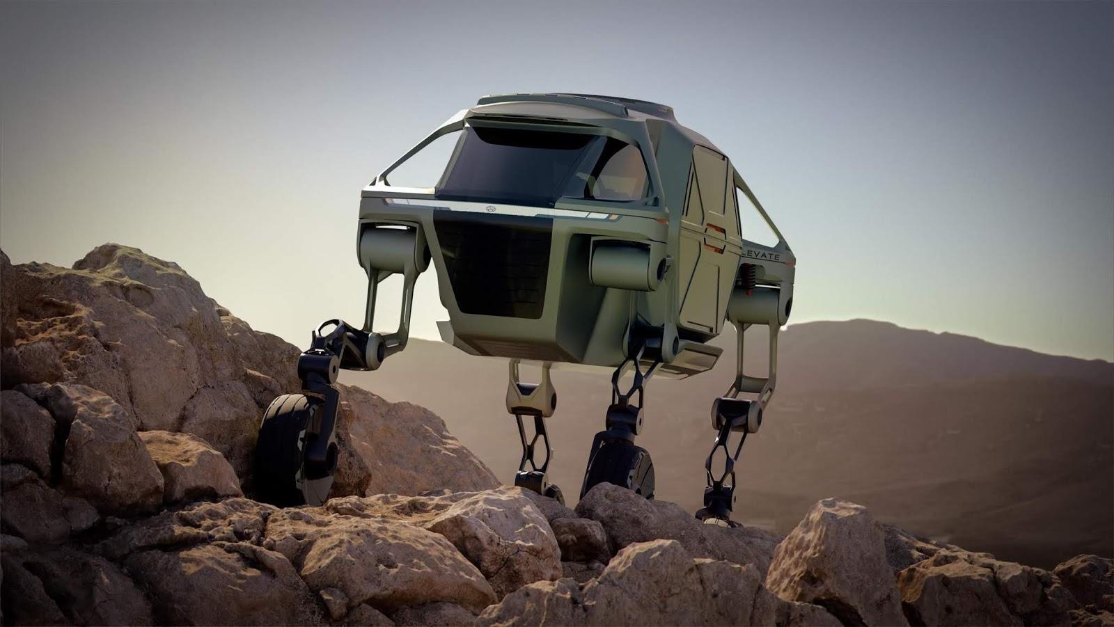 hyundai elevate concept252822529 H Hyundai έβγαλε όχημα με ρομποτικά πόδια! Electric cars, Hyundai, zblog, Τεχνολογία