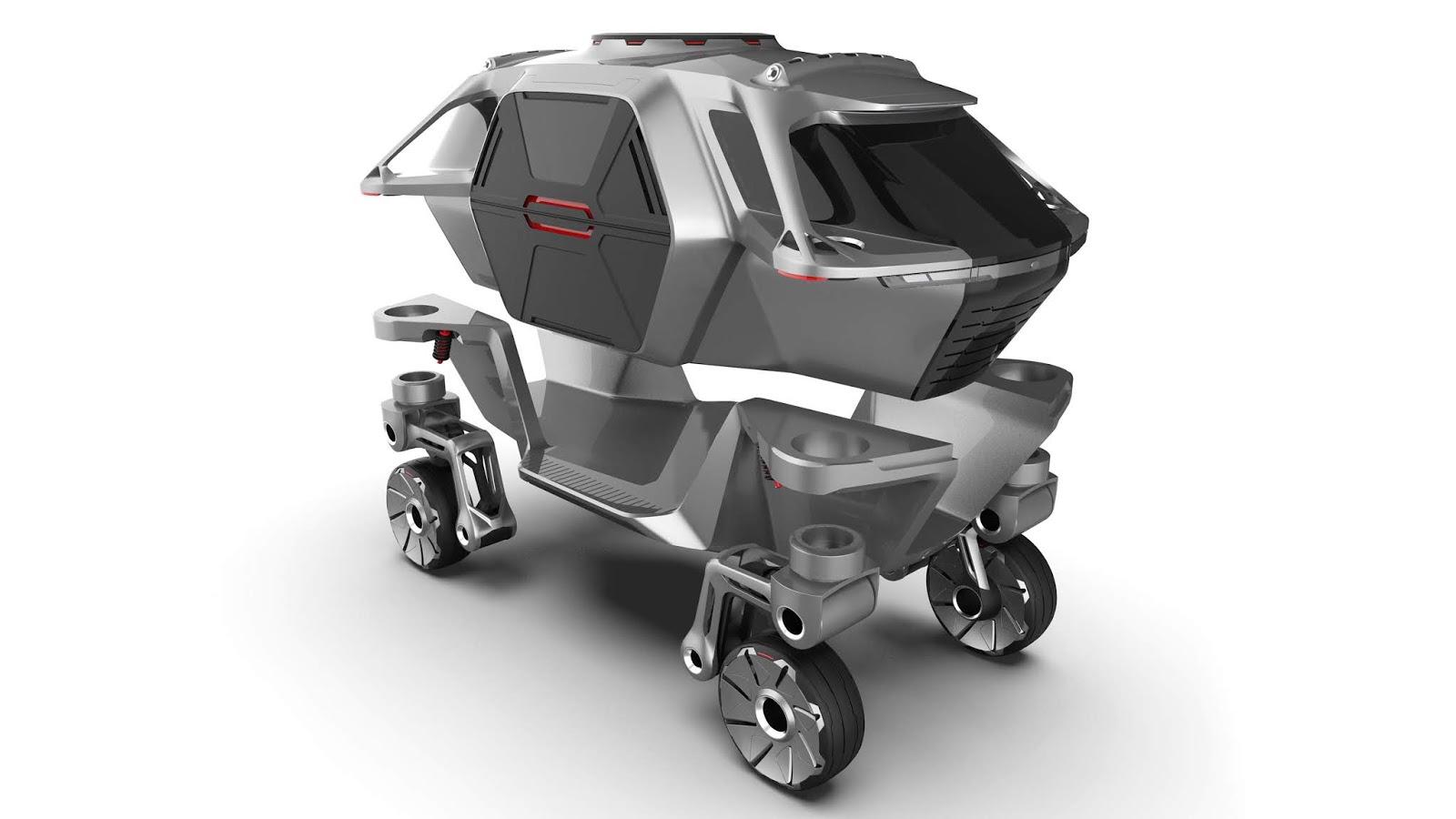 hyundai elevate concept252842529 H Hyundai έβγαλε όχημα με ρομποτικά πόδια! Electric cars, Hyundai, zblog, Τεχνολογία