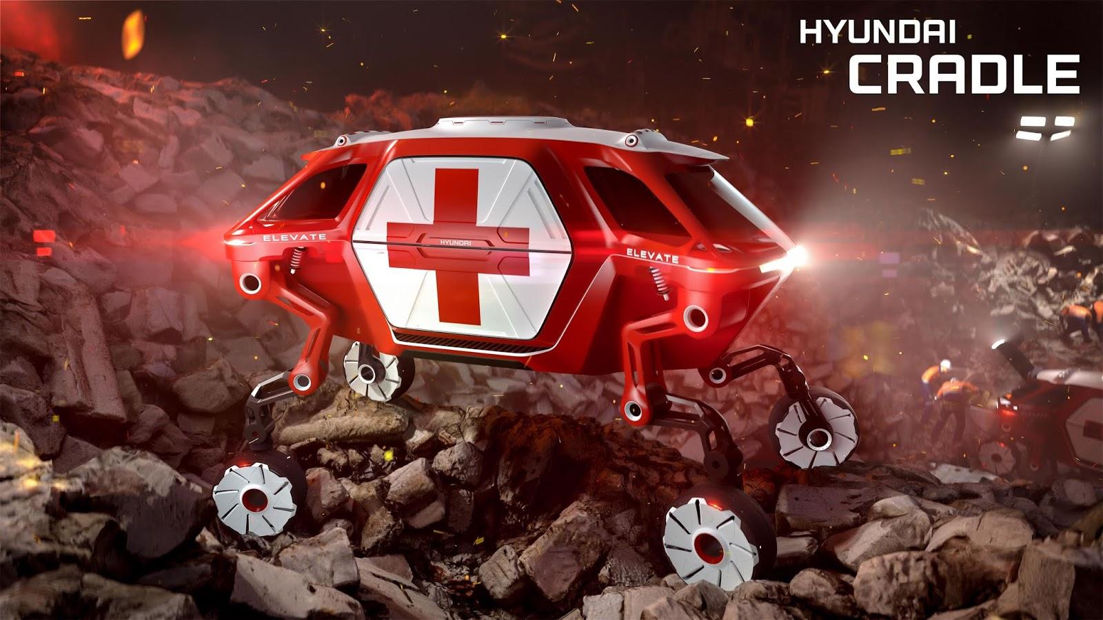 hyundai elevate concept252872529 H Hyundai έβγαλε όχημα με ρομποτικά πόδια! Electric cars, Hyundai, zblog, Τεχνολογία
