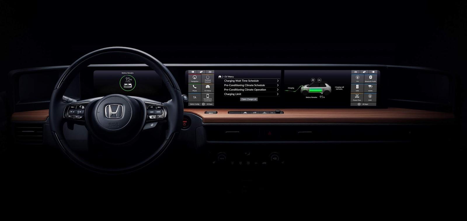 161758 Honda reveals first glimpse at interior of electric vehicle prototype bound Πρώτη γεύση από το ηλεκτρικό concept της Honda Honda, Έκθεση Γενεύης, Σαλόνι Αυτοκινήτου της Γενεύης