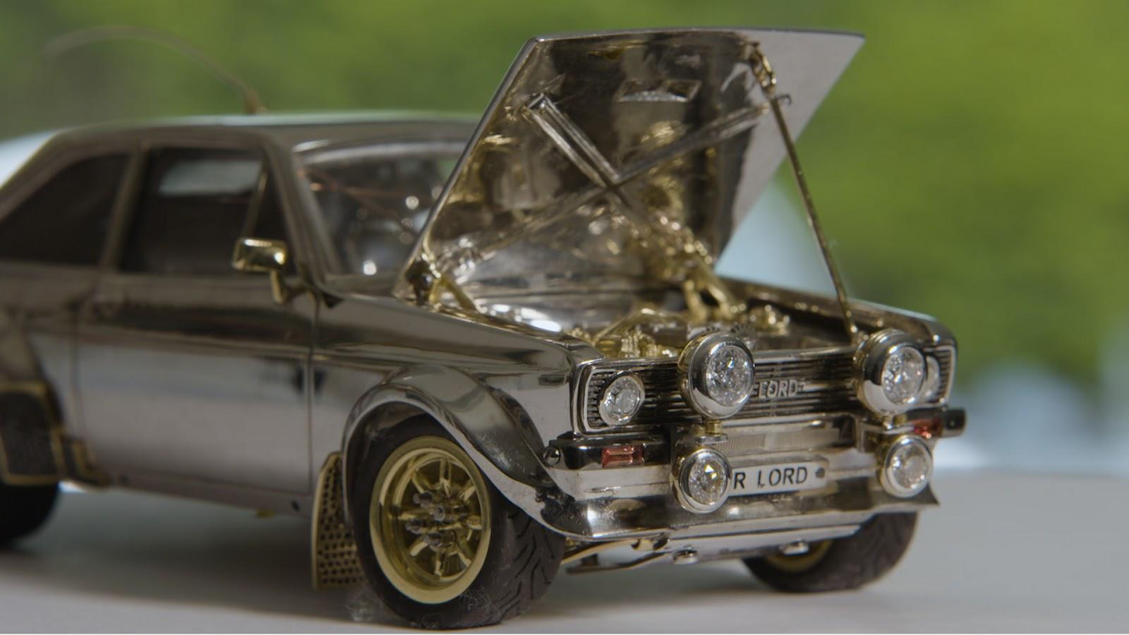 JewelledEscort 03 Ένα Ford Escort Mk2 κατασκευασμένο από χρυσό, διαμάντια και ασήμι! Ari Vatanen, Classic, Ford, Ford Escort, Ford Eskort mk2, video, videos, δημοπρασία