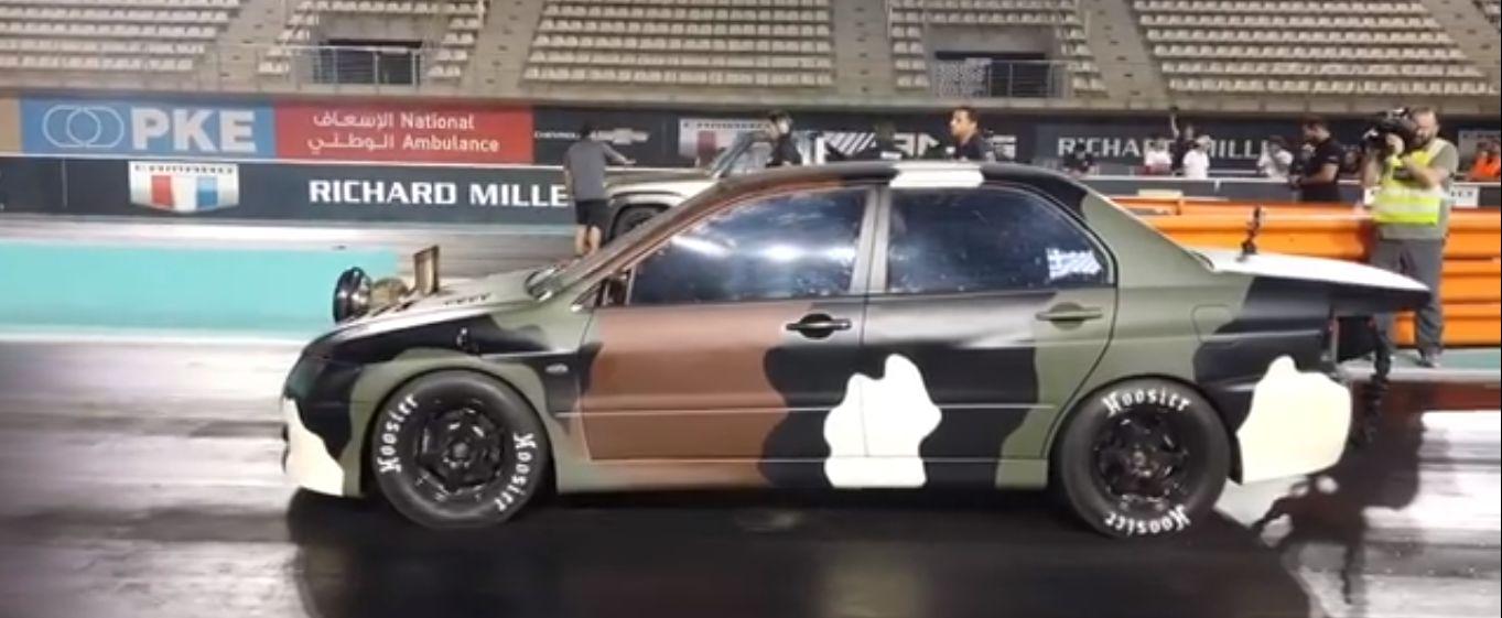 evohellas Άλωσε και το Abu Dhabi με παγκόσμιο ρεκόρ το ελληνικό Evo! drag race, Dragster, video, videos, αγωνες, βίντεο