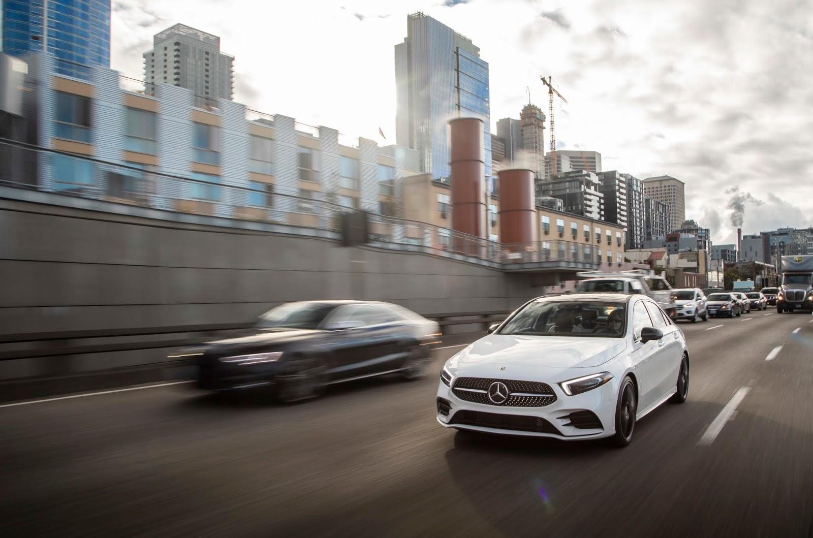 18C0775 004 Από 28.230 ευρώ η τιμή της Mercedes A-Class Sedan Luxury sedan, Mercedes, Mercedes AMG, premium sedan, sedan, zblog, καινούργιο, καινούρια, τιμες