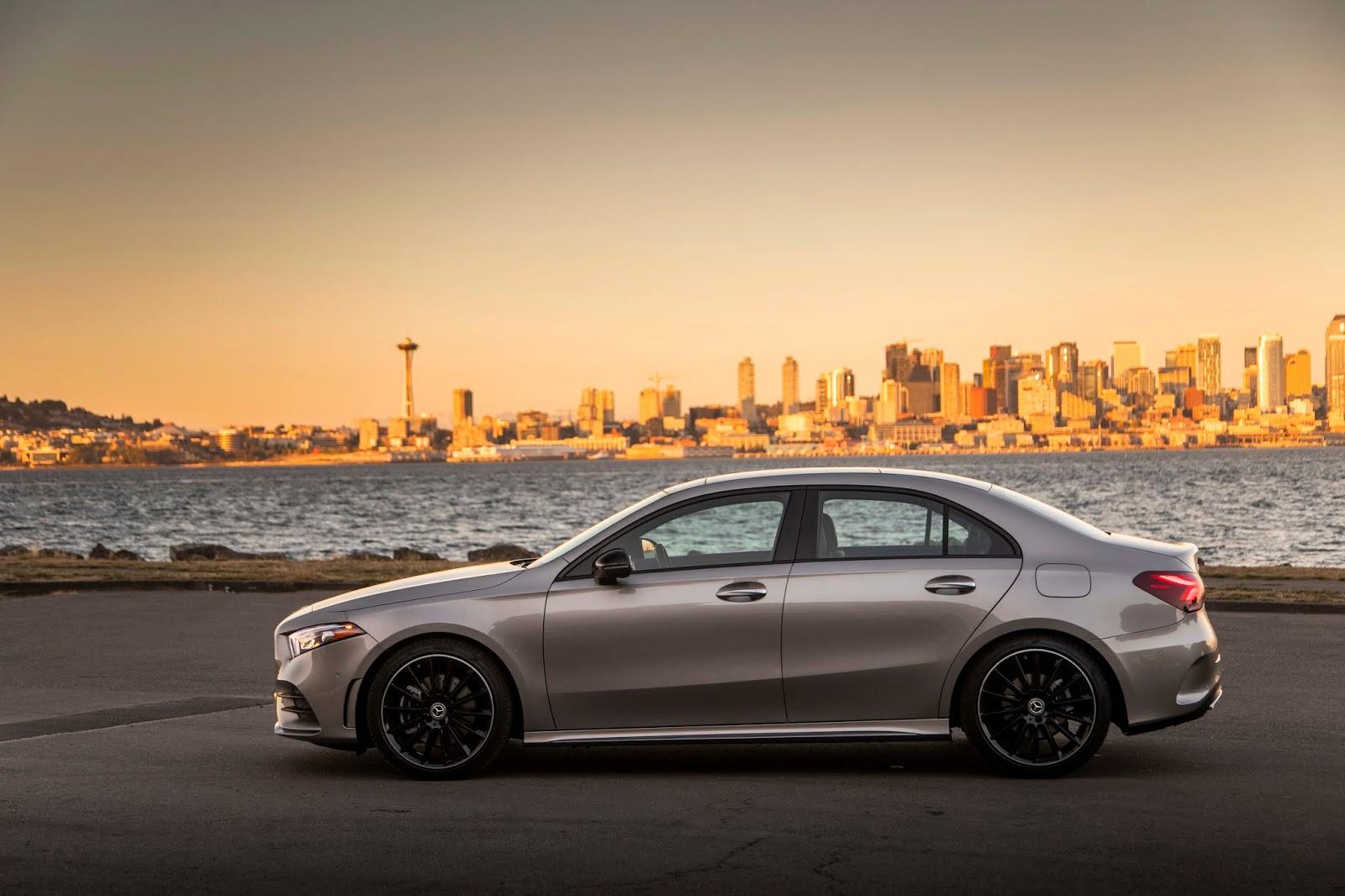 18C0777 007 Από 28.230 ευρώ η τιμή της Mercedes A-Class Sedan Luxury sedan, Mercedes, Mercedes AMG, premium sedan, sedan, zblog, καινούργιο, καινούρια, τιμες