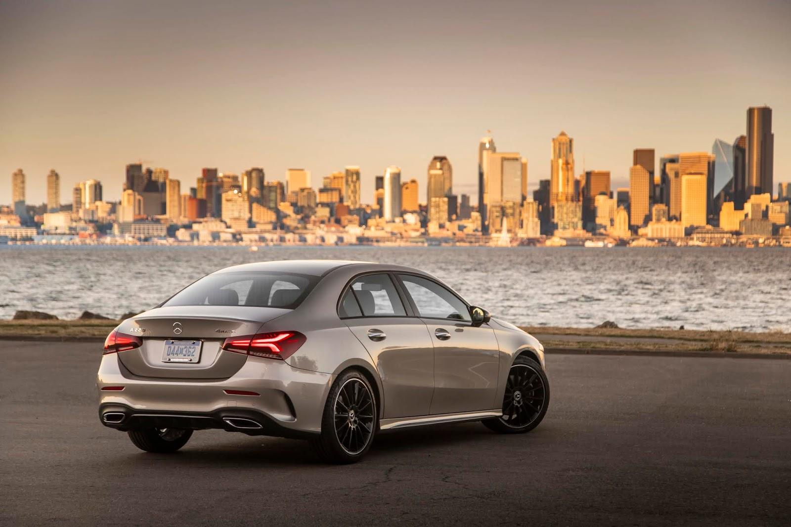 18C0777 008 Από 28.230 ευρώ η τιμή της Mercedes A-Class Sedan Luxury sedan, Mercedes, Mercedes AMG, premium sedan, sedan, zblog, καινούργιο, καινούρια, τιμες