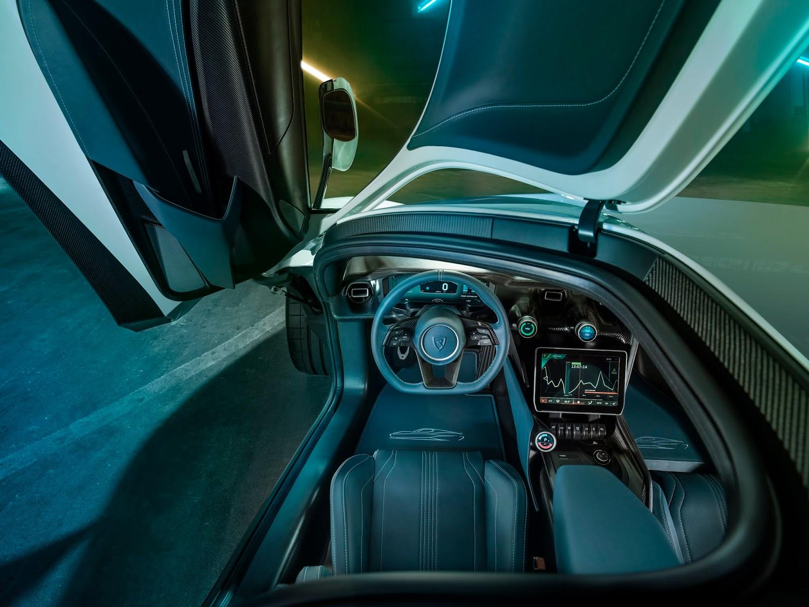 C TWO Interior POV Rimac C Two. Η νέα φυλή στα hypercars, έρχεται με 1900 ίππους. C Two, Electric cars, hypercar, Rimac, zblog
