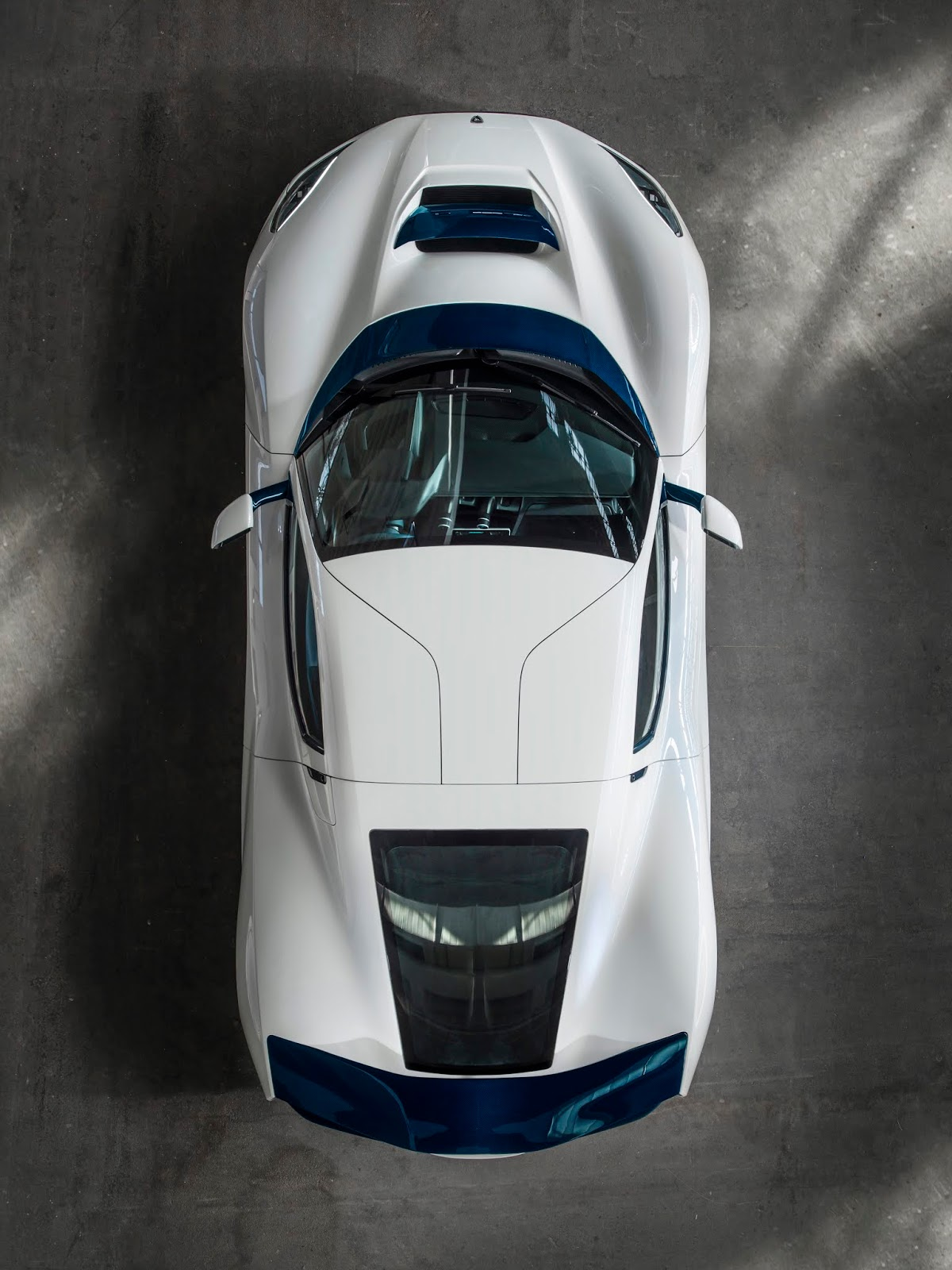 C TWO Top Down Rimac C Two. Η νέα φυλή στα hypercars, έρχεται με 1900 ίππους. C Two, Electric cars, hypercar, Rimac, zblog