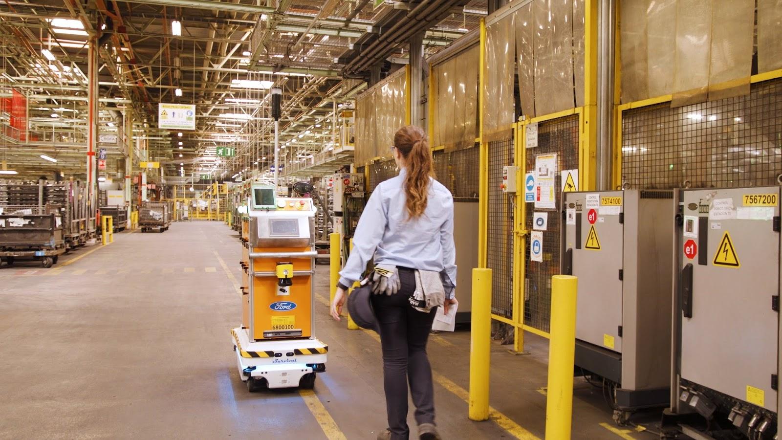 Ford SelfDrivingRobot 10 Η Ford έφτιαξε ένα ρομπότ για τις χαμαλοδουλειές του εργοστασίου της! Ford, video, videos, Εργοστάσιο, Τεχνολογία