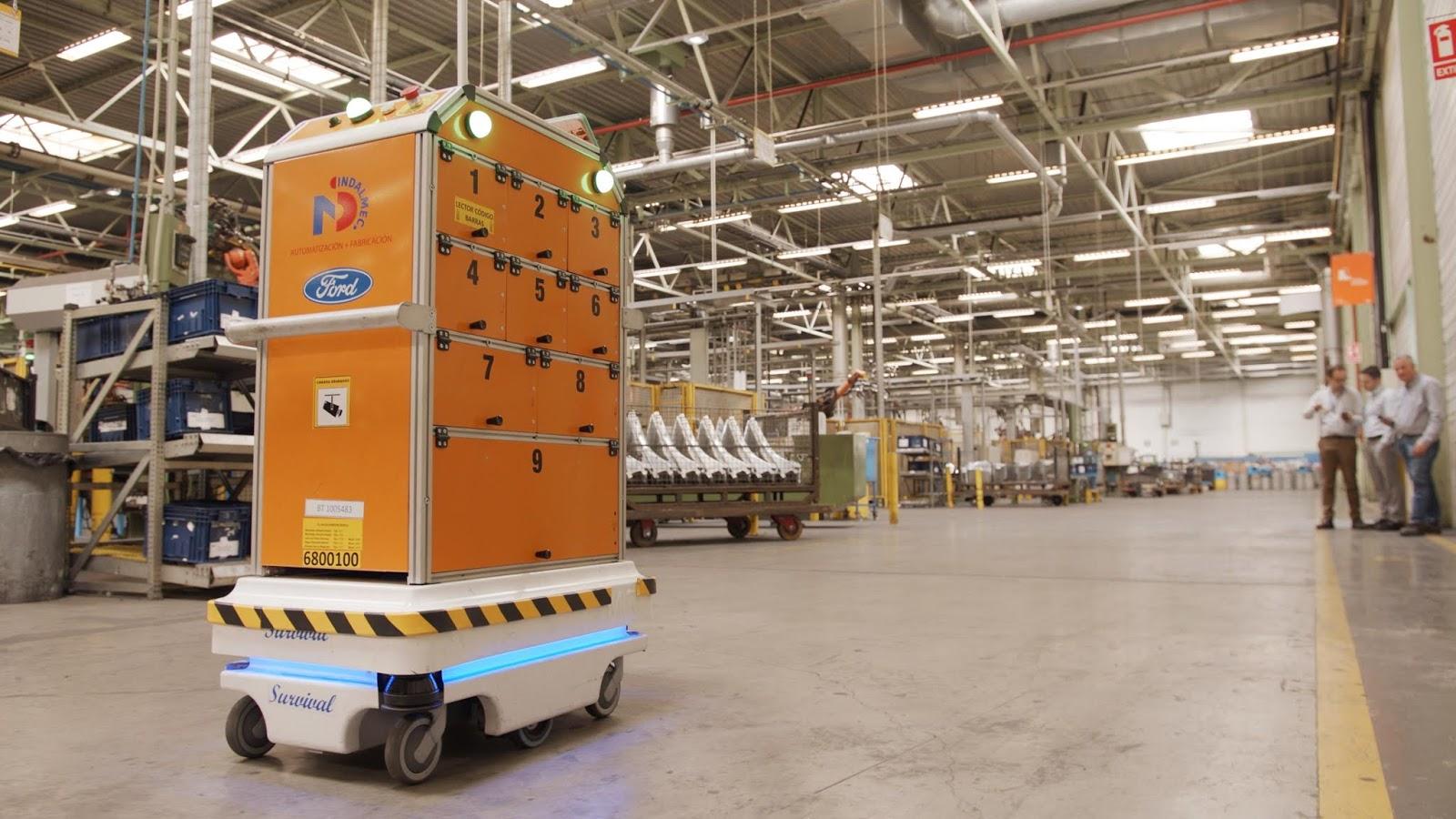 Ford SelfDrivingRobot 2 Η Ford έφτιαξε ένα ρομπότ για τις χαμαλοδουλειές του εργοστασίου της! Ford, video, videos, Εργοστάσιο, Τεχνολογία