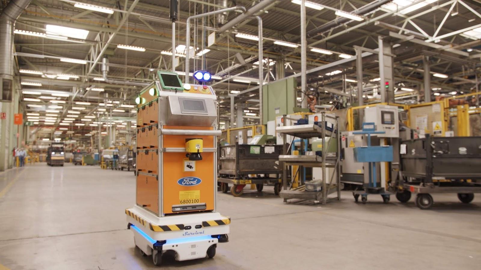 Ford SelfDrivingRobot 4 Η Ford έφτιαξε ένα ρομπότ για τις χαμαλοδουλειές του εργοστασίου της! Ford, video, videos, Εργοστάσιο, Τεχνολογία