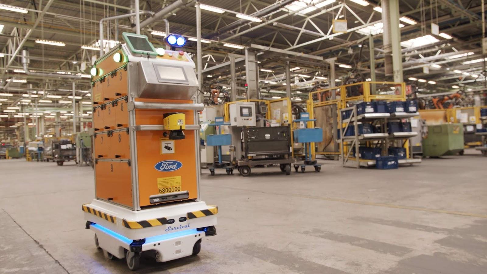 Ford SelfDrivingRobot 5 Η Ford έφτιαξε ένα ρομπότ για τις χαμαλοδουλειές του εργοστασίου της! Ford, video, videos, Εργοστάσιο, Τεχνολογία