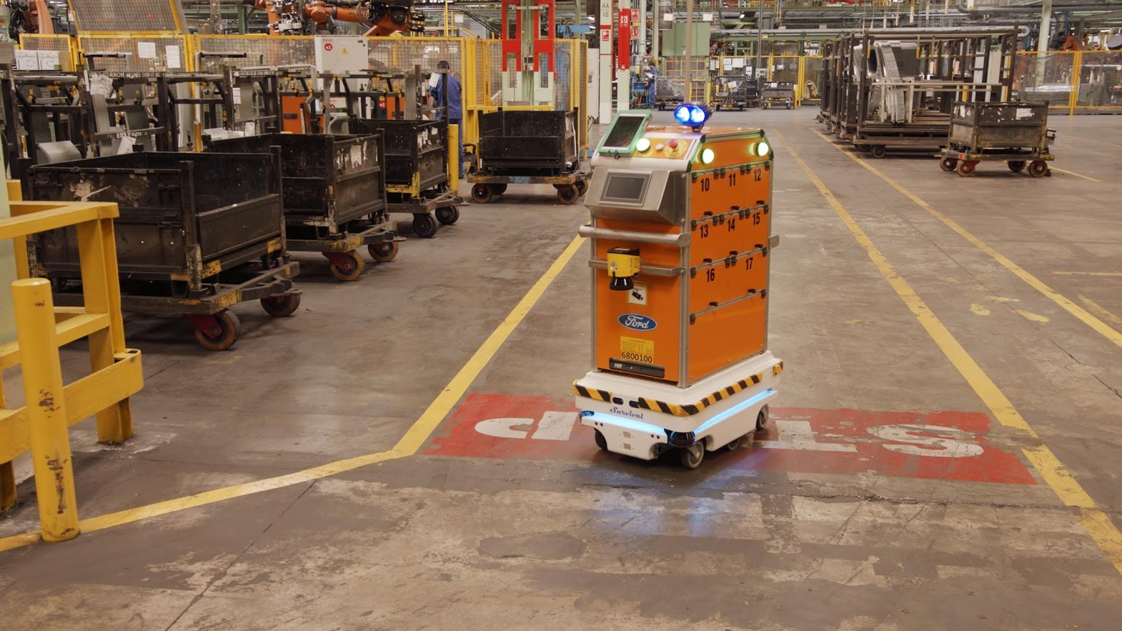 Ford SelfDrivingRobot 7 Η Ford έφτιαξε ένα ρομπότ για τις χαμαλοδουλειές του εργοστασίου της! Ford, video, videos, Εργοστάσιο, Τεχνολογία