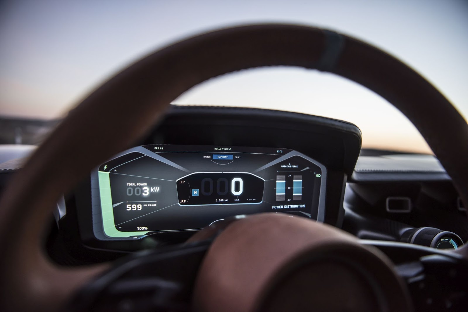 c two cluster gui overview Rimac C Two. Η νέα φυλή στα hypercars, έρχεται με 1900 ίππους. C Two, Electric cars, hypercar, Rimac, zblog