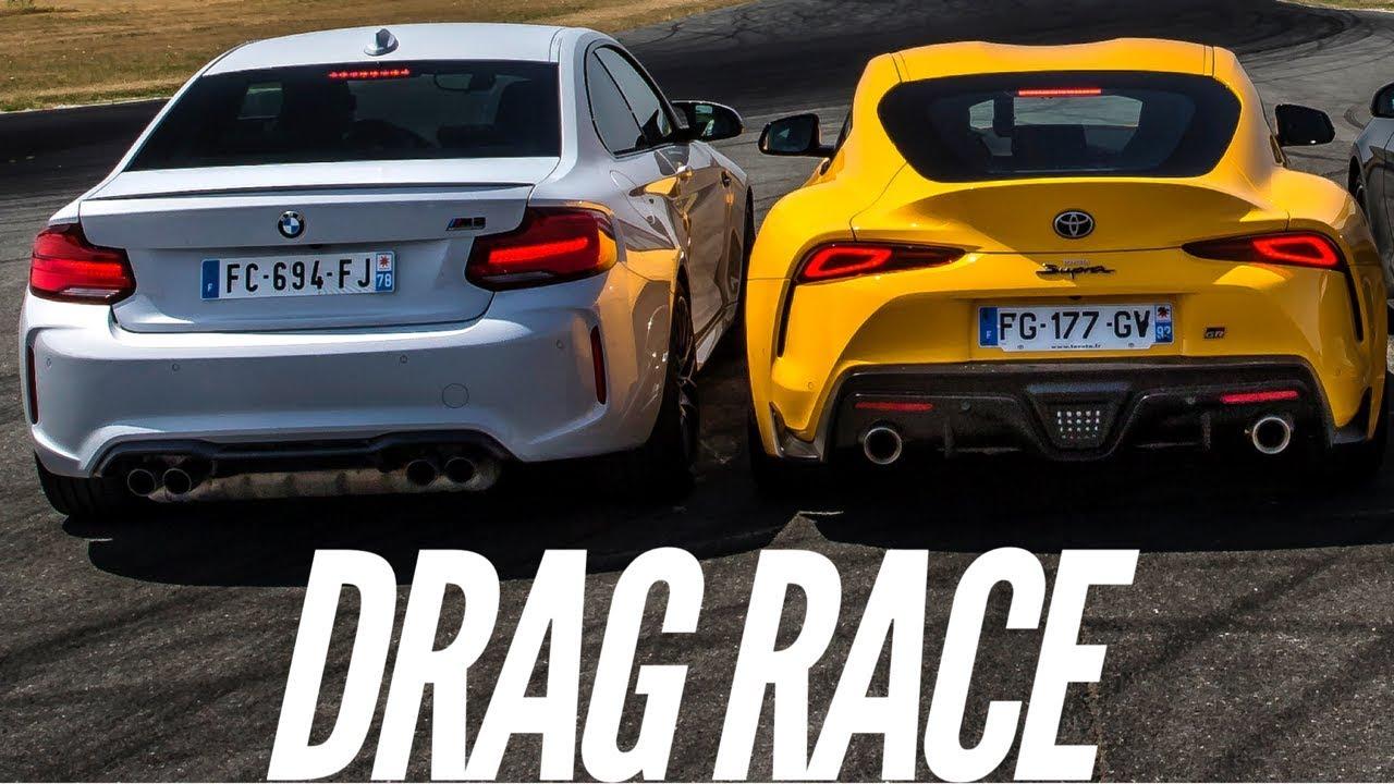 bmw2Bsupra Δες μια M2 Competition να παίρνει το σκαλπ μιας Supra BMW, BMW M, BMW M2, drag race, Toyota, Toyota Supra, video, videos, vs, βίντεο, κόντρες