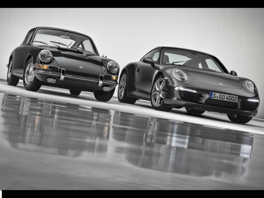 porsche 911 old vs new passenger side front Πόσο πιο γρήγορη είναι μια καινούρια Porsche 911 από μια παλιά; Nurburgring, Porsche, Porsche 911, Porsche 911 Turbo, video, videos, βίντεο