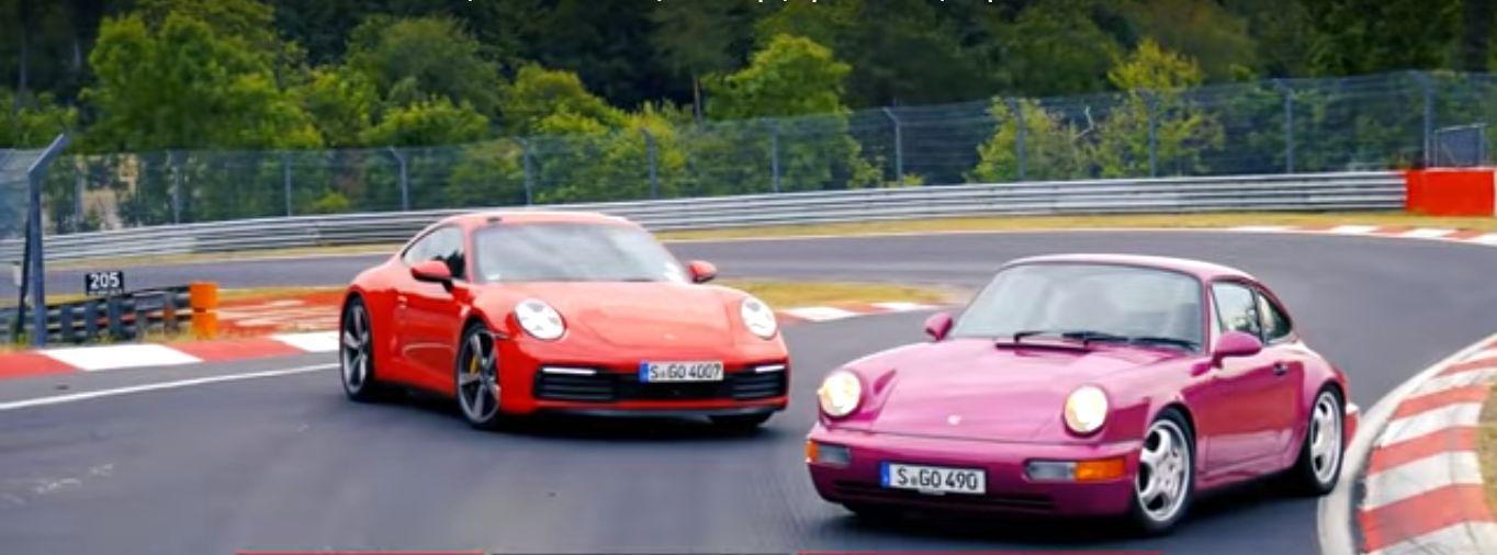porsche2Bvs2Bporsche 1 Πόσο πιο γρήγορη είναι μια καινούρια Porsche 911 από μια παλιά; Nurburgring, Porsche, Porsche 911, Porsche 911 Turbo, video, videos, βίντεο