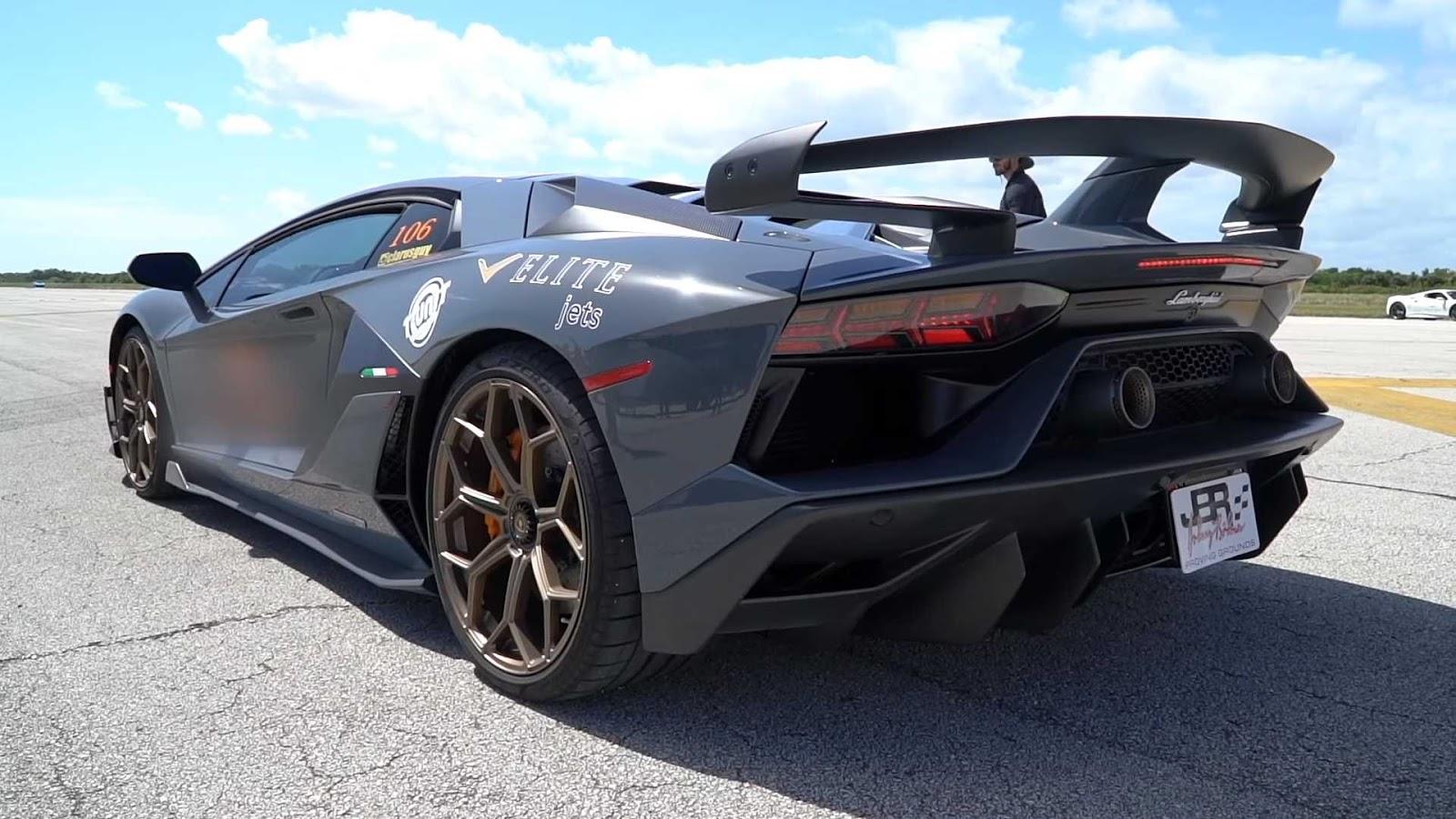 lamborghini aventador svj top speed Άκου μια Aventador SJV να ουρλιάζει ως τα 340 χαω Lamborghini, Lamborghini Aventador, topspeed, video, videos, βίντεο