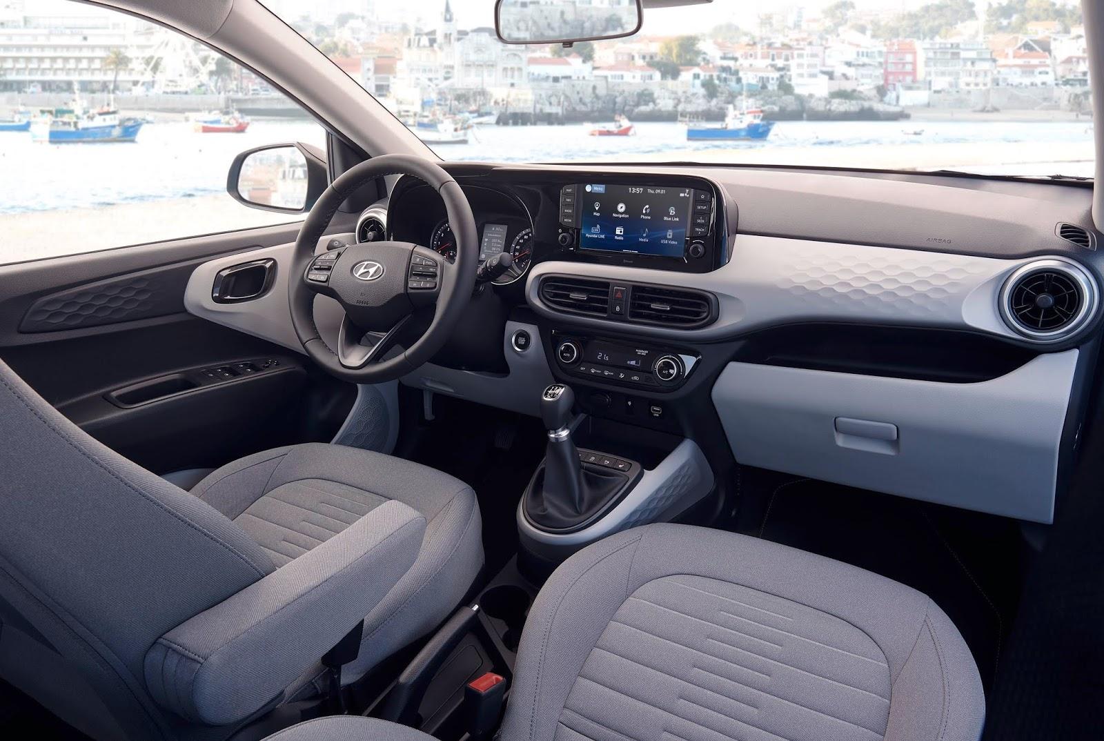 Hyundai2Bi102Binterior2B252812529 L Η Hyundai... φορτώνει με τεχνολογία το i10 Hyundai, Hyundai i10, αγορά, καινούρια
